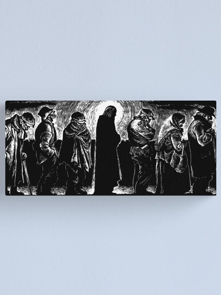 Alternate view of Jesus of the Breadlines Canvas Print