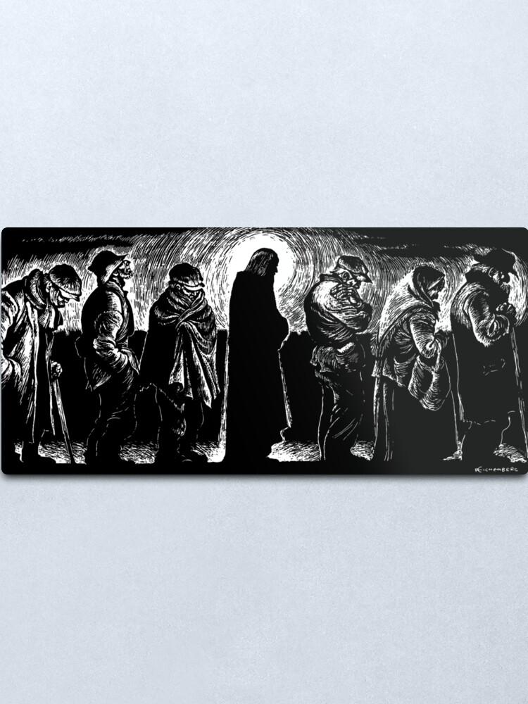 Alternate view of Jesus of the Breadlines Metal Print