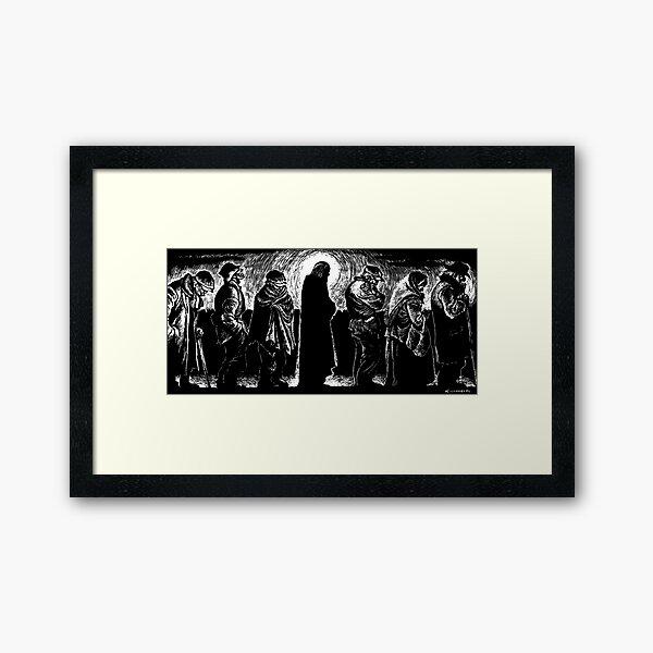 Jesus of the Breadlines Framed Art Print