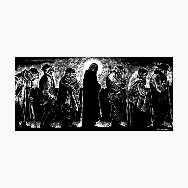 Jesus of the Breadlines Photographic Print