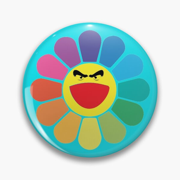 Takashi Murakami Happy Flower Badge