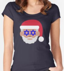 christmukkah santa claus emoji Women's Fitted Scoop T-Shirt