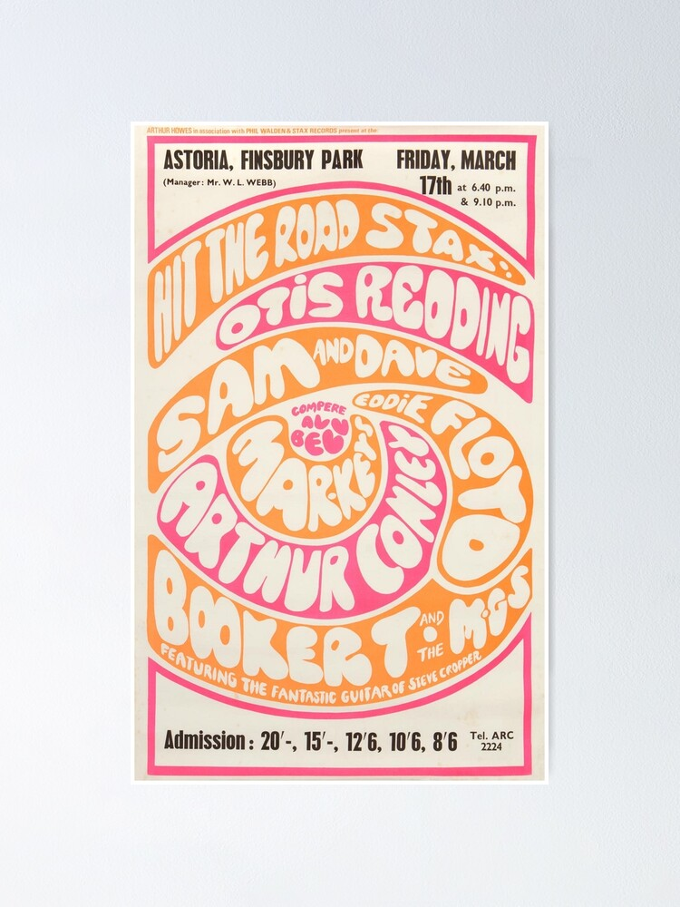 Alternate view of Otis Redding - Booker T And The MGs 1960s London Concert Poster Print. Poster