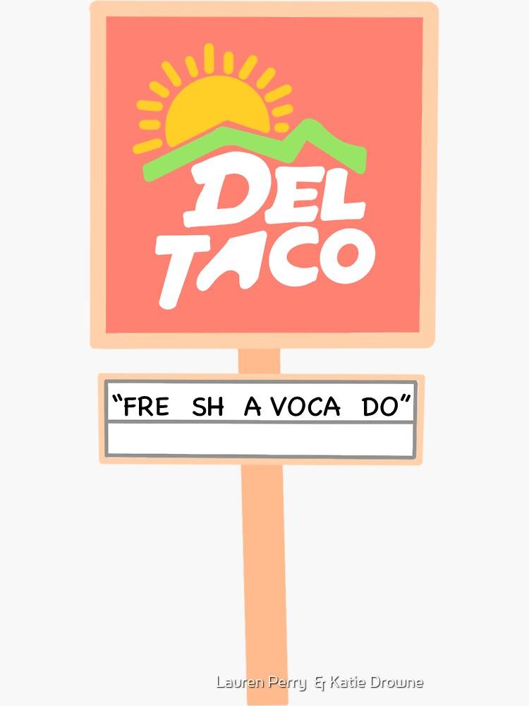 """FRESH AVOCADO"" Vine Sticker by KatieAndLauren"