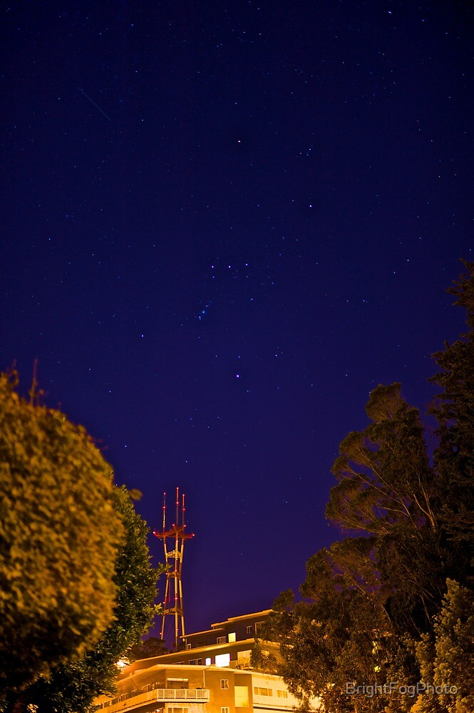 Orion at the End of the Street by BrightFogPhoto