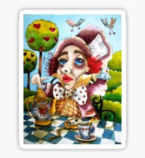 The Mad Hatter - time for tea Sticker