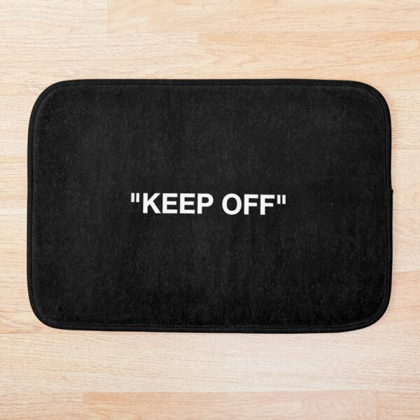 Keep Off – Off White | Black Textured | Hype Edition Bath Mat