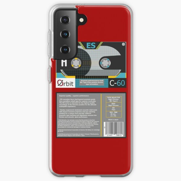 Orbit Electronics ES C-60 type 2 cassette (front and back) Samsung Galaxy Soft Case