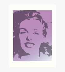Marilyn Monroe Pop Art Purple White Gradient Art Print
