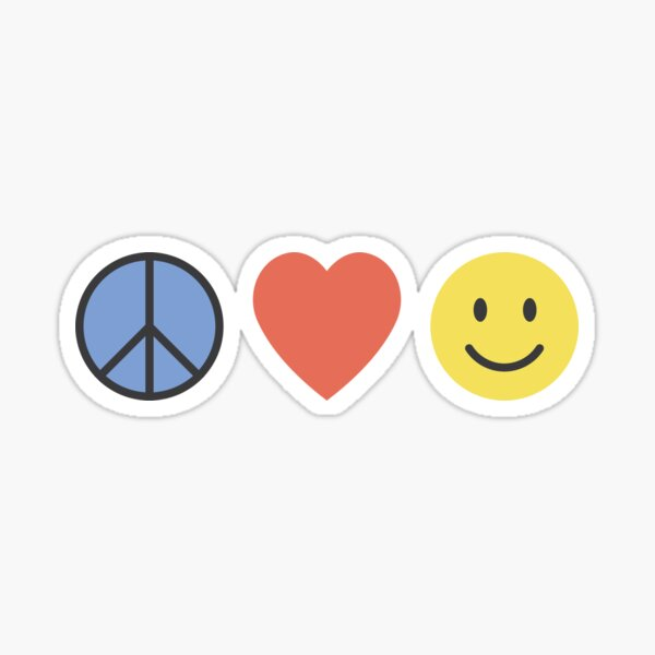 Peace, Love, Happiness Sticker
