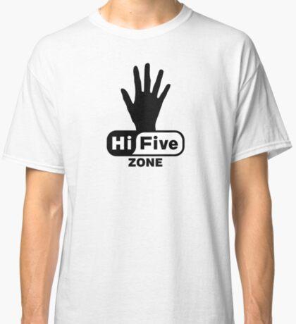 Hi Five Zone handprint T-Shirt & Stickers Classic T-Shirt