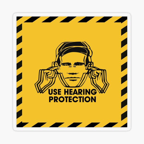 Use Hearing Protection Transparent Sticker