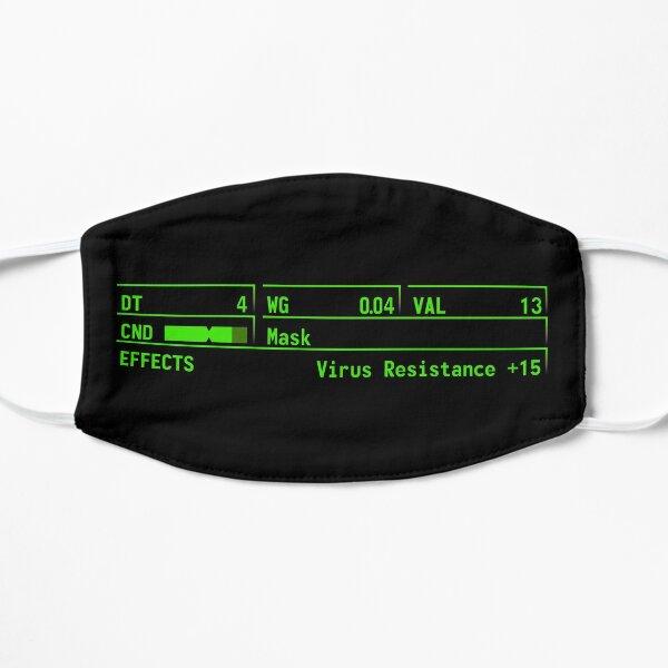 Masque Fallout vert Masque sans plis
