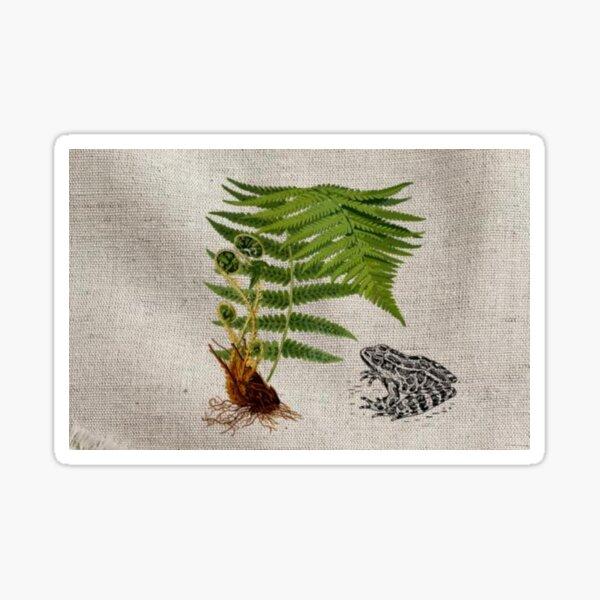 Forest Fern Frog Sticker