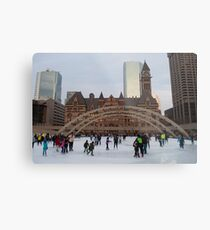 Skating At Nathan Phillips Square Metal Print