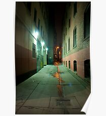 John Street Alley At Night Poster