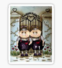 Tweedle Dee and Twiddle Dum Sticker