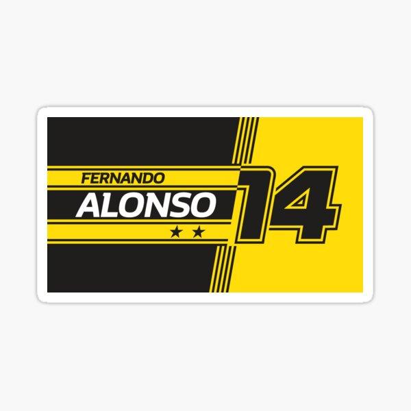 Fernando Alonso Renault | F1 Pegatina