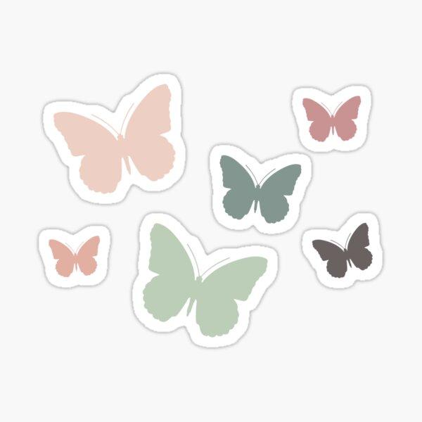 Earthy Neutral Butterfly Sticker Pack Sticker