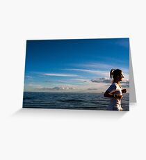 Late in the Day at Elwood Beach ( Colour Version ) Greeting Card