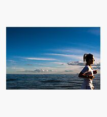 Late in the Day at Elwood Beach ( Colour Version ) Photographic Print