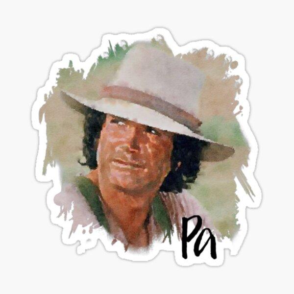 Pa Ingalls Little House on the Prairie  Sticker