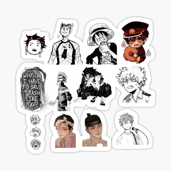 Anime and Manga sticker mix Sticker