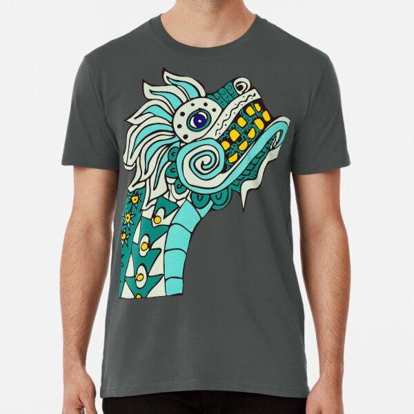 Teal Dragon with Gold Teeth Premium T-Shirt