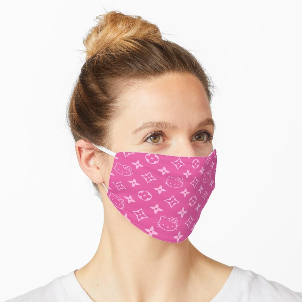 Pink Y2K kitty designer print Mask
