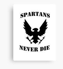 Halo Spartans Never Die Canvas Print