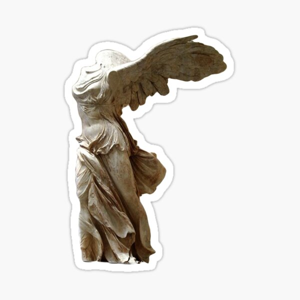 Marble statue of Nike Glossy Sticker