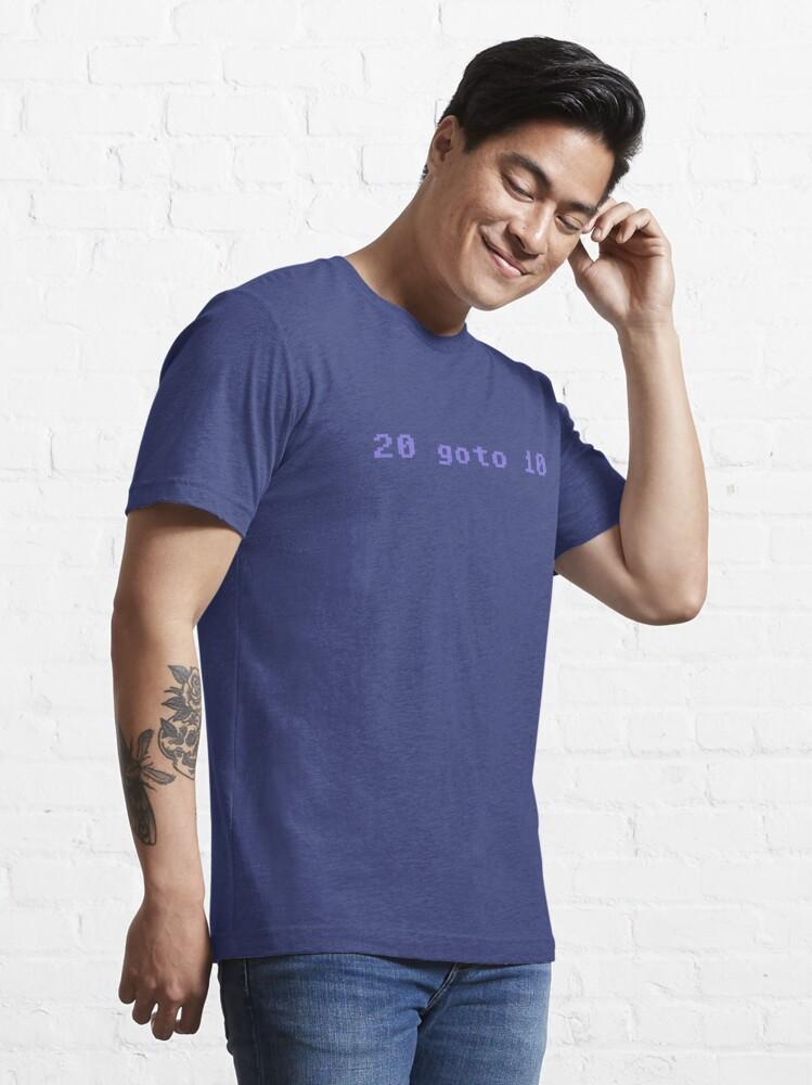 Alternate view of 20 goto 10 Essential T-Shirt
