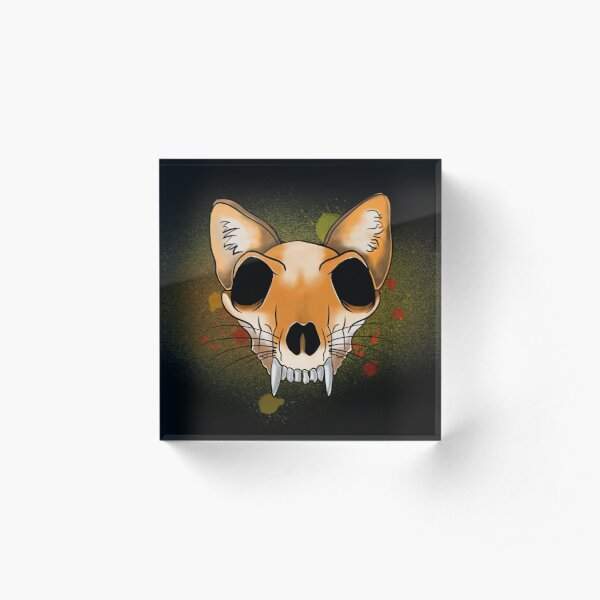 Foxy Skelton Acrylic Block