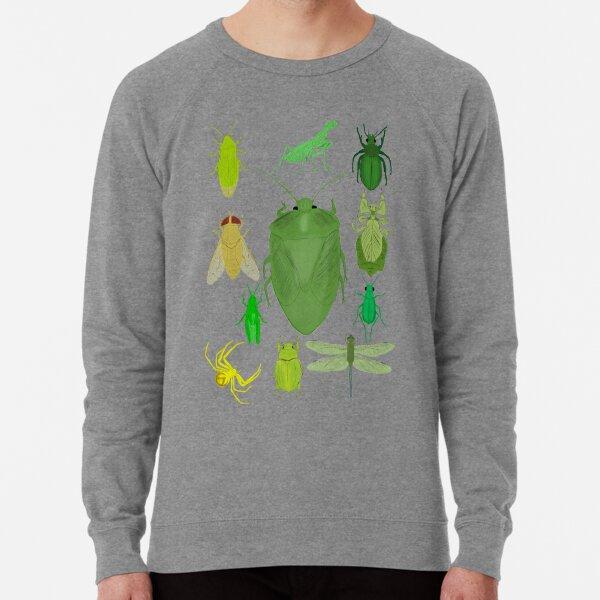 Green Bug Print Lightweight Sweatshirt