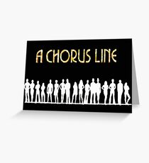 A Chorus Line Poster Greeting Card