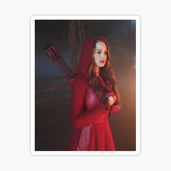 Pequeña flor roja de Cheryl Pegatina
