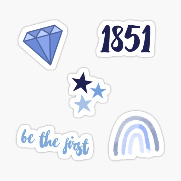 Blue and White Sorority Pack Sticker