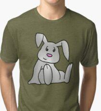 White Bunny Rabbit Tri-blend T-Shirt