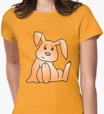 Orange Bunny Rabbit Women's Fitted T-Shirt