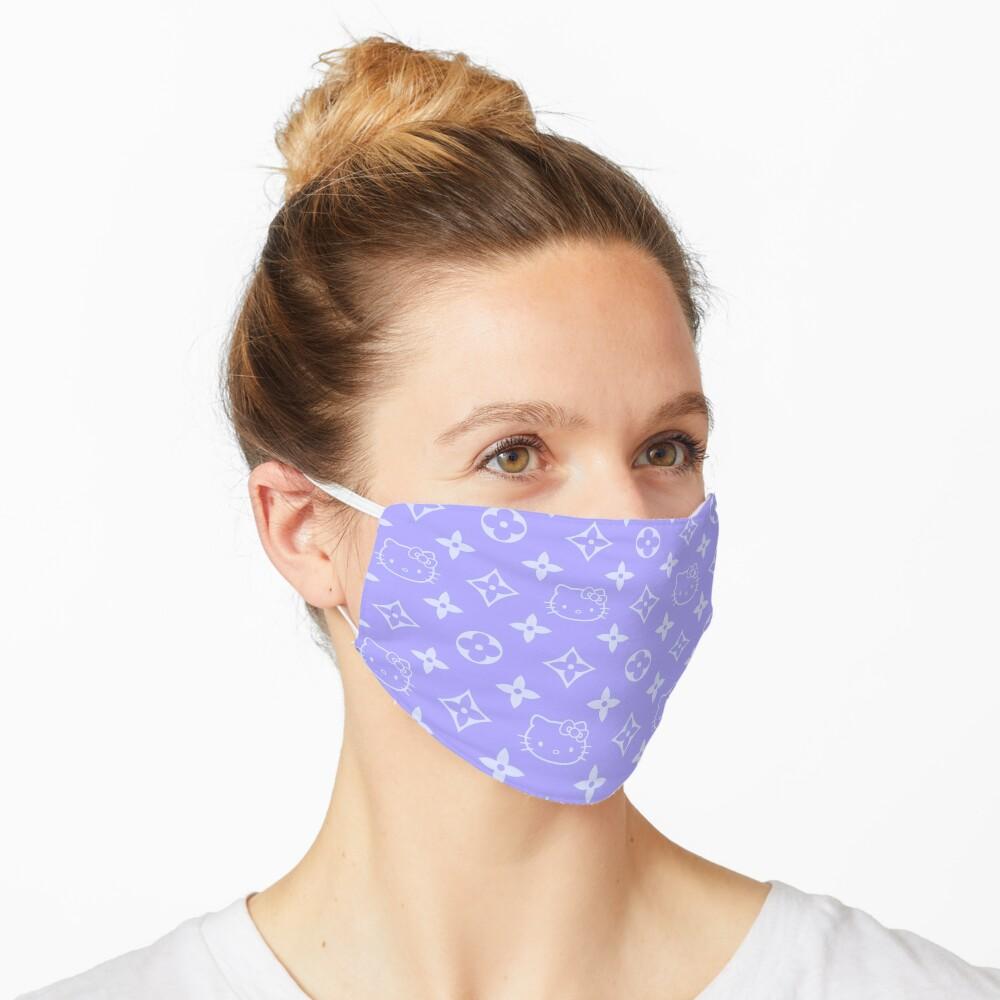 Light purple and blue Y2K kitty designer print Mask