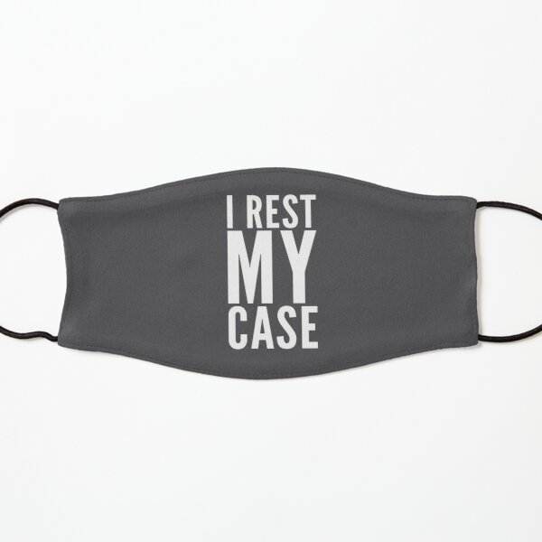 Attorney Gift - I Rest My Case - Retirement Lawyer Present Kids Mask