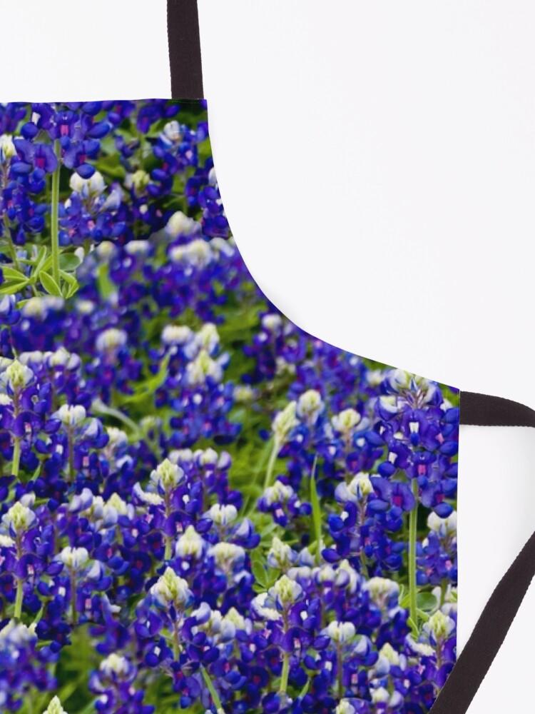 Alternate view of Texas Bluebonnets Apron