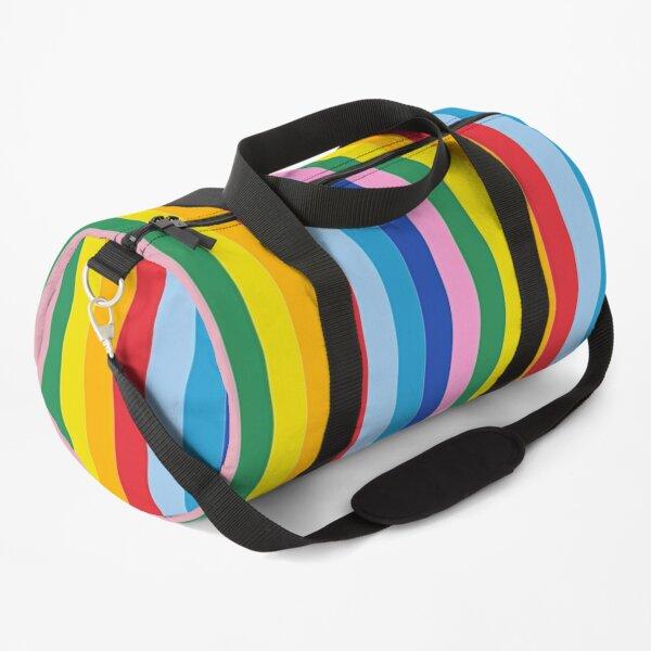 Gay Pride Rainbow Stickers Duffle Bag