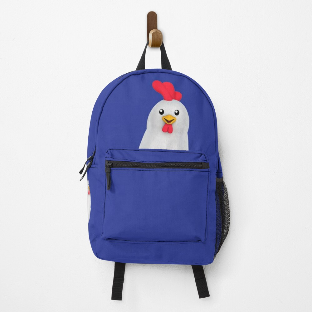 Cute White Chicken Backpack
