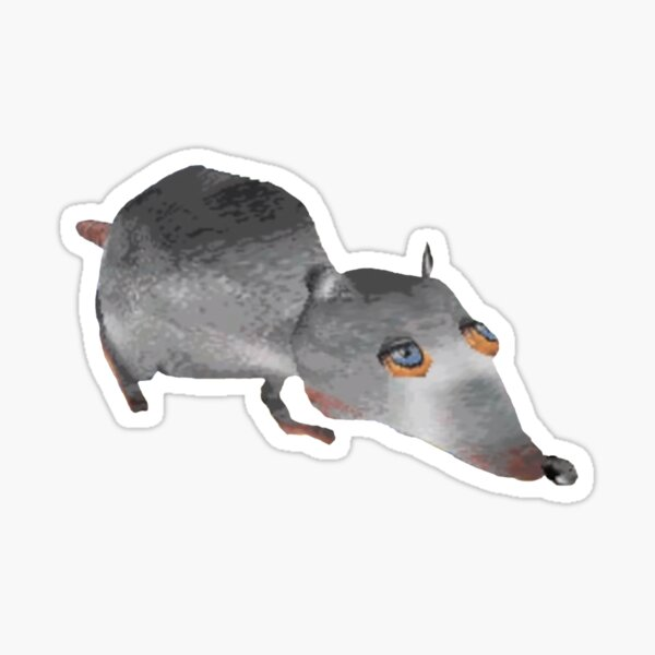 Giant Rat Who Makes All of the Rules Sticker
