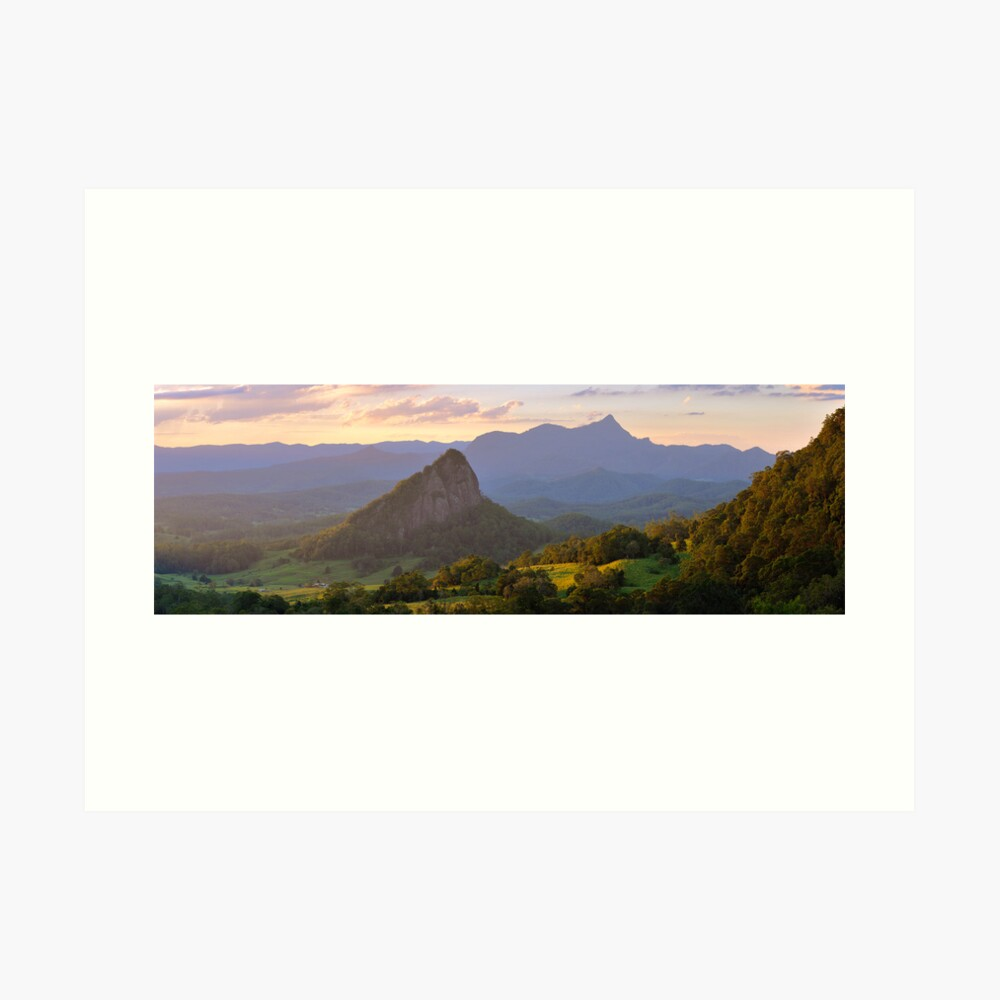 Doughboy Hill & Mt Warning, New South Wales, Australia Art Print