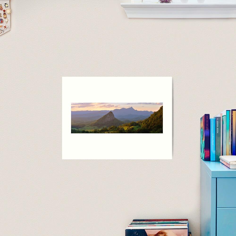 Doughboy Hill & Mt Warning, New South Wales, Australia Art Print