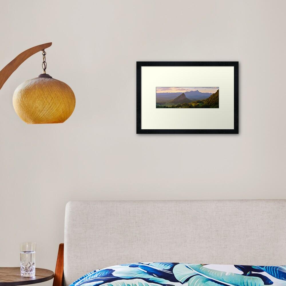 Doughboy Hill & Mt Warning, New South Wales, Australia Framed Art Print
