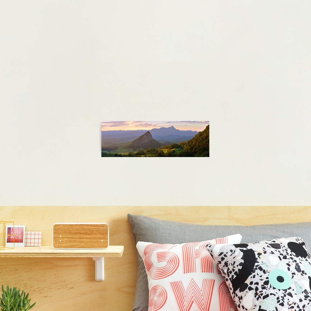 Doughboy Hill & Mt Warning, New South Wales, Australia Photographic Print