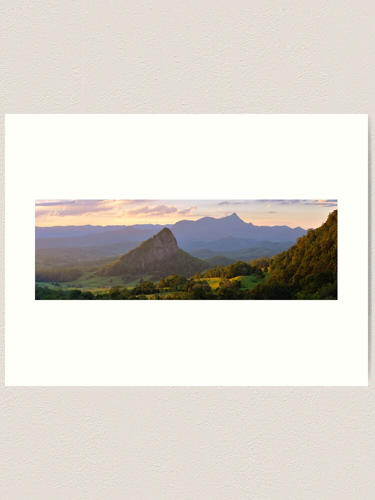 Alternate view of Doughboy Hill & Mt Warning, New South Wales, Australia Art Print